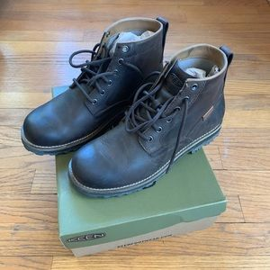 Keen The 59 Mulch Black  Leather Boots